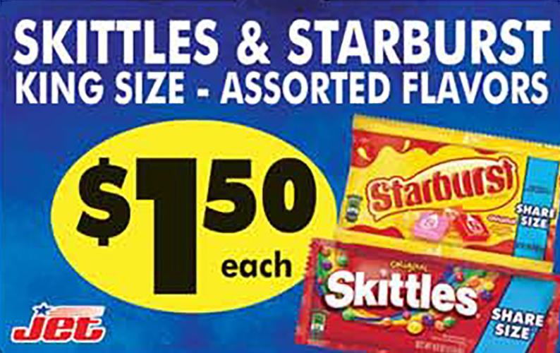 skittles and starburts ad