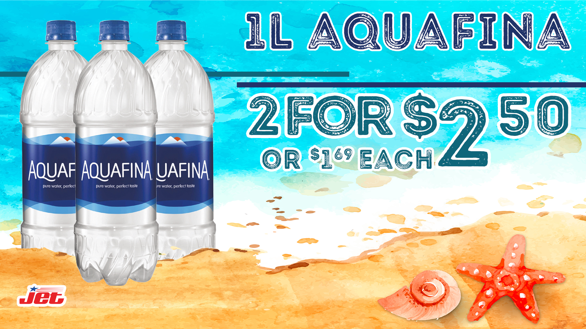 Promo 2 for 2.50 Aquafina