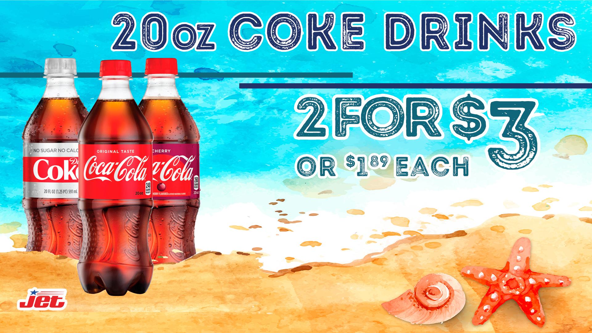 Promo 2 for 3.00 Coke